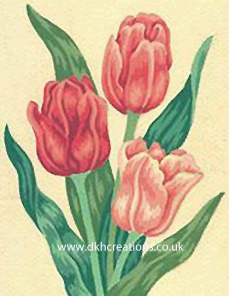 Pink Tulips Tapestry Kit